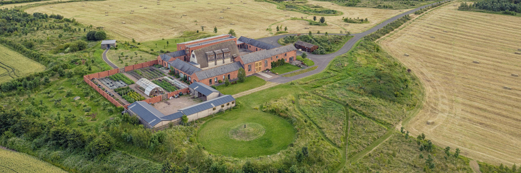 OSB Mucknell Abbey from the air